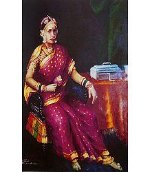 Rani of Puddukottai - Ravi Varma Reprint