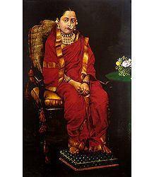 Portrait of a Princess - Ravi Varma Reprint