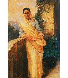 Parsi Lady - Ravi Varma Reprint