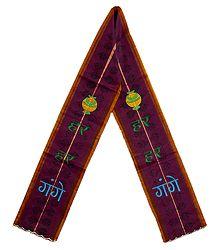 Angavastram with Har Har Gange Embroidery