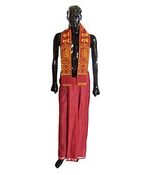 Shop Online Red Lungi and Angavastram