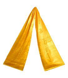 Yellow Satin Khada - Buddhist Angavastram