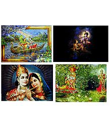Radha Krishna - Set of 4 Posters