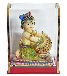 Resin Bal Gopala in an Acrylic Box