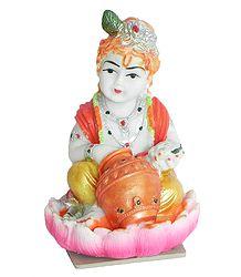 Makhan Chor Gopala - Rubber Statue