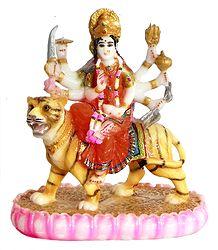Sherawali Mata - Resin Statue