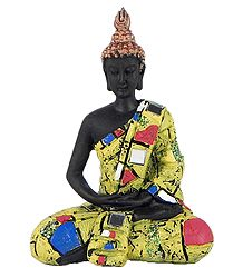 Meditating Buddha in Yellow Robe