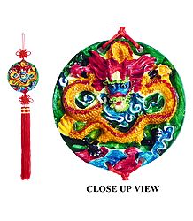 Dragon on Disc - Wall Hanging
