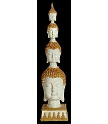 Four Headed Buddha - Resin Statue