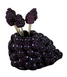 Black Grape Stand with Six Forks
