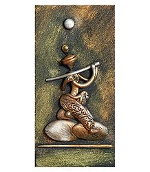 Krishna (New Tribal Art) - Wall Hanging