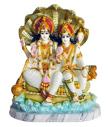 Vishnu and Lakshmi - Resin Statue
