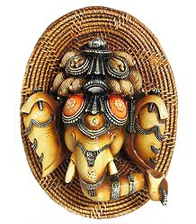 Resin Ganesha Face -  Wall Hanging