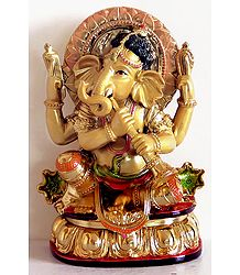 Lord Ganesha Playing Shehnai