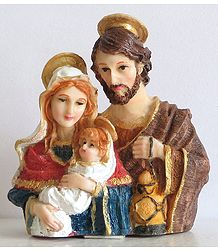 Baby Jesus with Mary and Joseph
