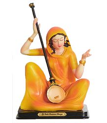 Meerabai - Great Devotee of Krishna - Resin Statue