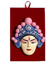 Poly Resin Opera Face for Wall Decoration