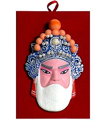 Poly Resin Chinese Opera Mask for Wall Decoration
