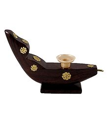 Wooden Boat with Pen Stand