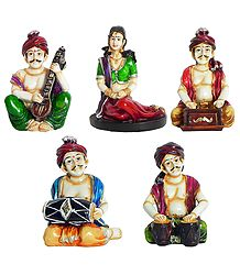 Rajasthani Musicians - Resin Sculpture