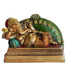Reclining Ganesha - Resin Statue