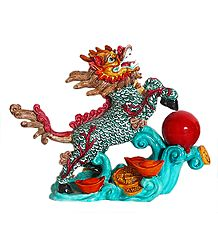 Chinese Dragon - Resin Statue