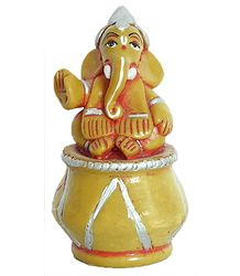Resin Lord Ganesha Sitting on Tabla