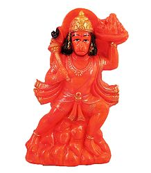 Buy Red Hanuman - Resin Statue