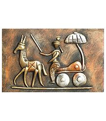 Horse Cart (New Tribal Art) - Wall Hanging