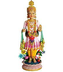 Swaminarayan in Royal Dress - Poly Resin Statue