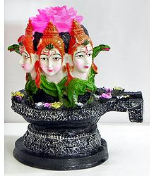 Shiva Linga with Shiva Face