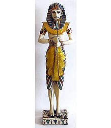 Standing Egyptian King with Long Bird Stick