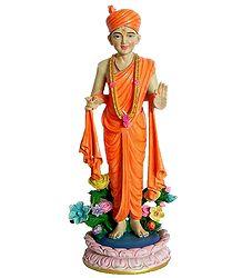 Swaminarayan as Yogi - Resin Statue