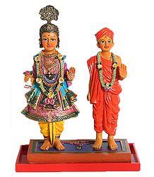 Swaminarayan as King and Sage - Resin Statue