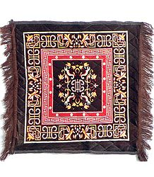 Brown Velvet Ritual Carpet Mat