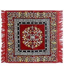 Buy Red Velvet Ritual Carpet Mat