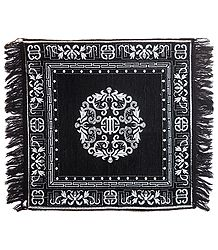 Designer Black Cotton Ritual Mat