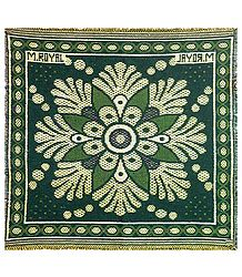 Reversible Green with Yellow Cotton Ritual Mat