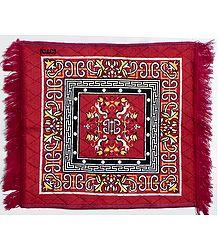 Red Velvet Ritual Carpet Mat