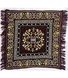 Dark Brown Velvet Ritual Mat
