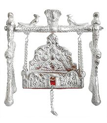 White Metal Carving Jhula