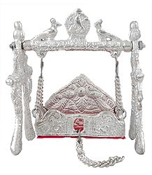 Buy White Metal Carving Jhula