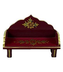 Painted Wooden Seat for Deity
