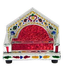Meenakari Peacock Design Throne for Deity