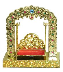 Plastic Carving Battery Operated Jhula for Deity