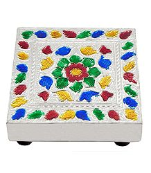 Colorful  Flower Design Square Ritual Seat