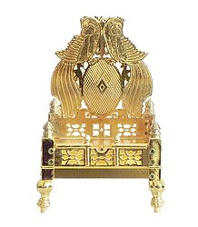 White Metal Carving Ritual Throne
