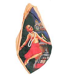 Japamala Bag with Chaitanyadev Print
