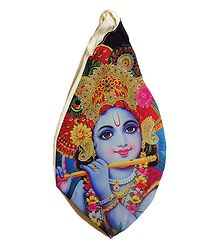 Japamala Cotton Bag with Krishna Print