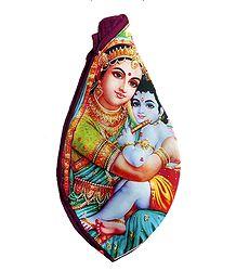 Japamala Cotton Bag with Yashoda Krishna Print